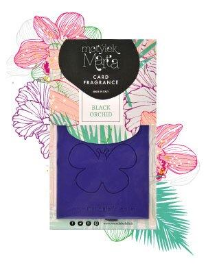Motýlek Marta vonná karta Black Orchid