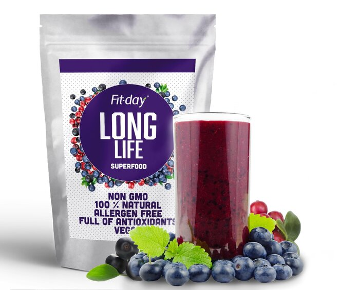 Superfood smoothie Long Life, 75 g (3 porce)