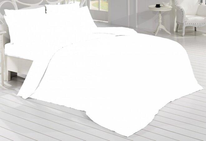 Saténové povlečení - bílá