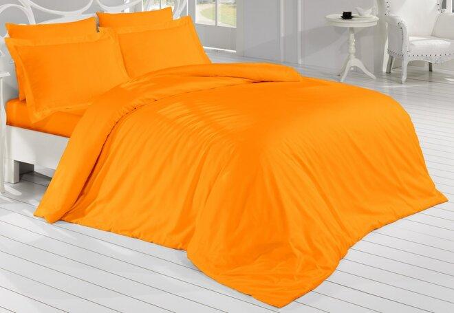 Saténové povlečení - oranžová