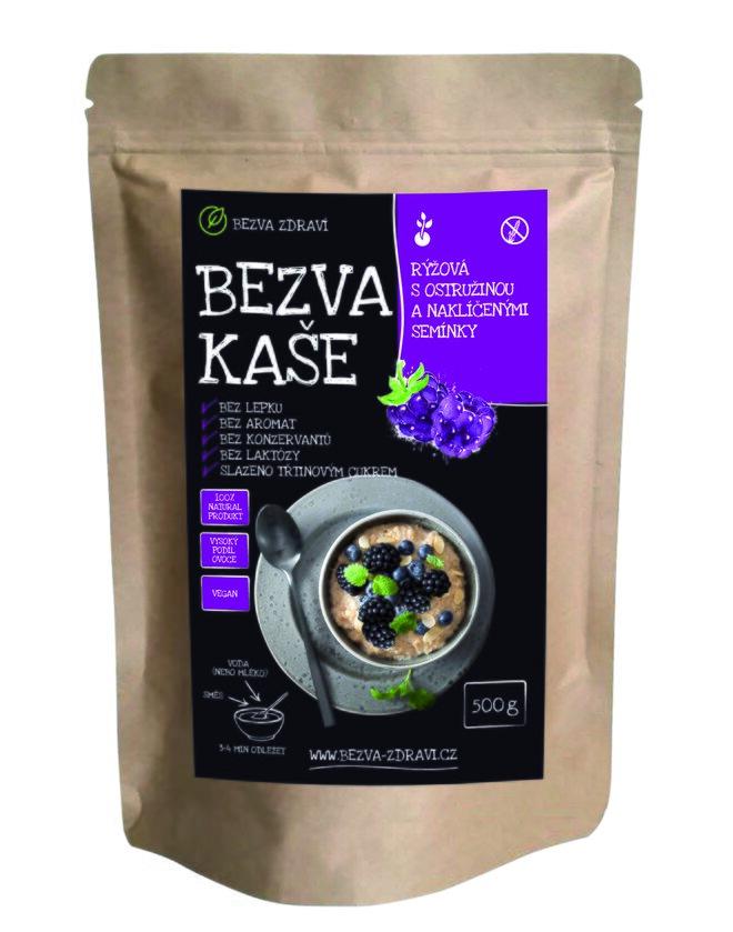 Bezlepková rýžová kaše s ostružinou a naklíčenými semínky, 500 g