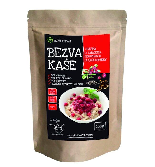 Ovesná kaše s čirokem, brusinkou a chia semínky (500 g)