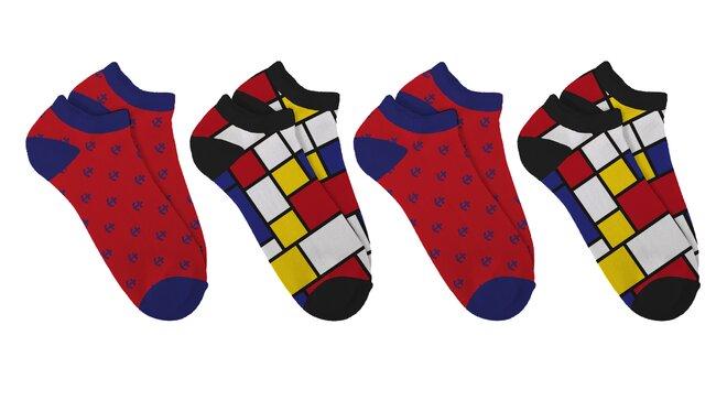 Dárkový set barevných ponožek Soxit - Kotníčkový set