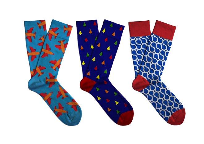 Dárkový set barevných ponožek Soxit - Modrý set