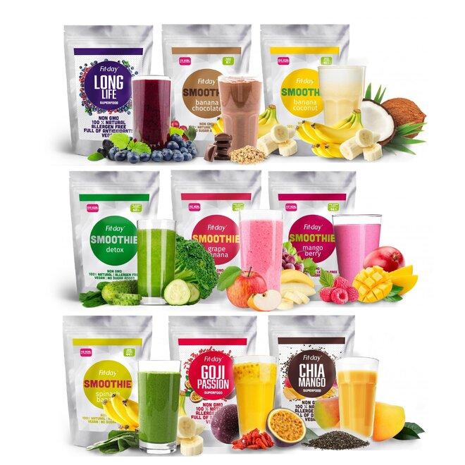 Zdravý balíček: 9× smoothie (27 porcí)