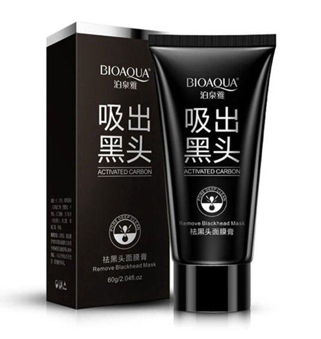Černá pleťová maska s aktivním bambusovým uhlím