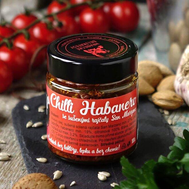 Pasta z červených chilli Habanero, 100 g