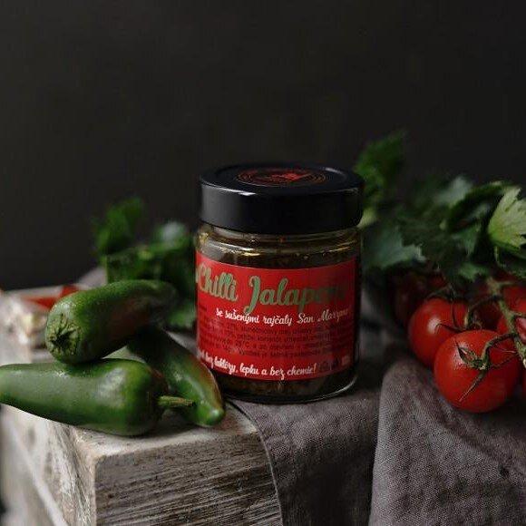 Pasta ze zelených chilli Jalapeno, 100 g