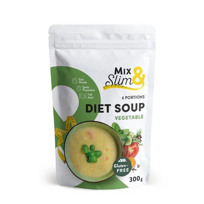 Dietní polévka zeleninová, 6 porcí