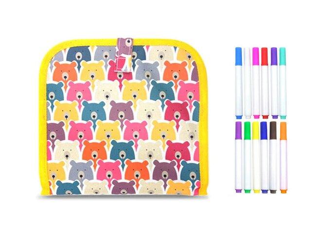Kreslicí knížka s 12 fixy – medvědi