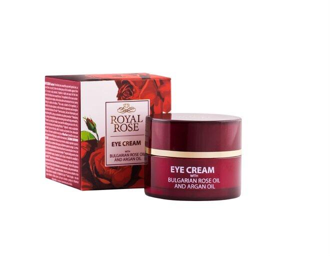 Krém oční ROYAL ROSE růžový a arganový olej