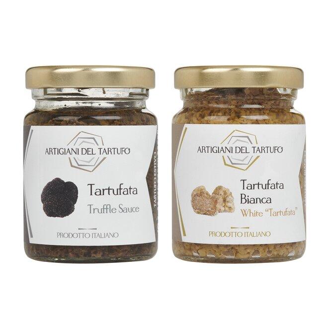 Lanýžová pasta z černého lanýže + Lanýžová pasta z bílého lanýže , 2× 90 g
