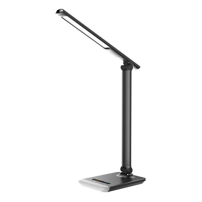 LED stolní lampička PLATINET PDLH10QBR, Qi bezdrátové dobíjení, RGB podsvětlení