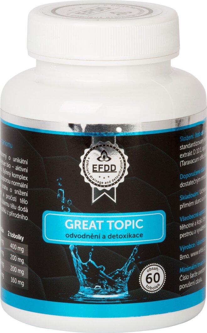 Great Topic odvodnění a detoxikace, 60 tablet