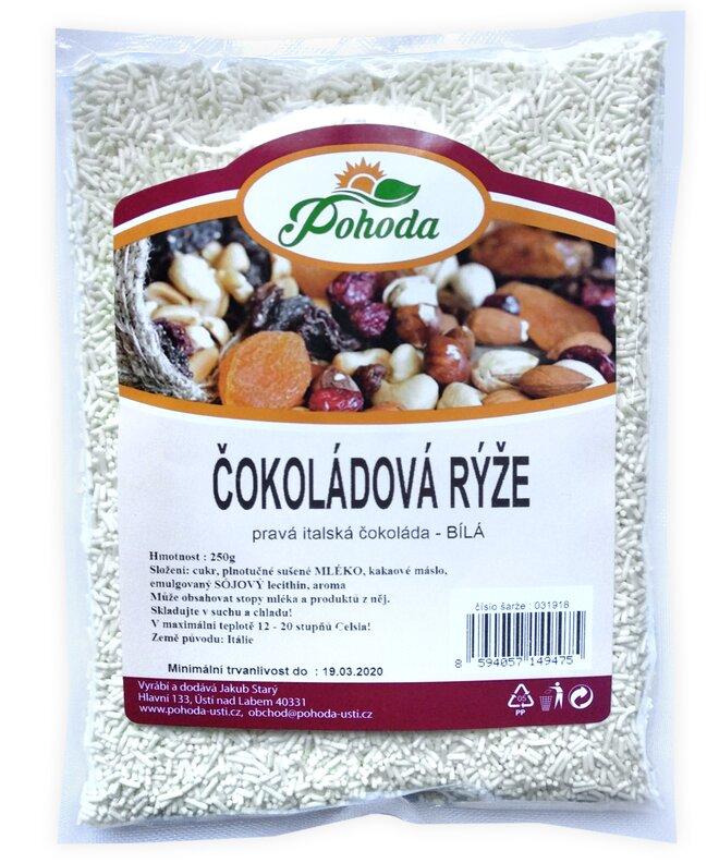 Čokoládová rýže, bílá, 250 g