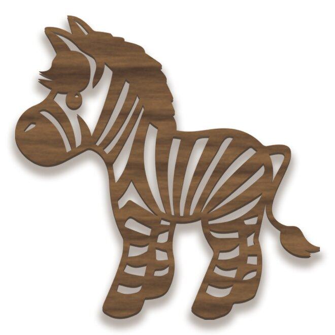 Dřevěný obraz - zebra