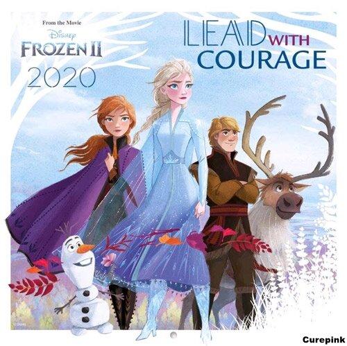 Nástěnný kalendář 2020 - Ledové království 2