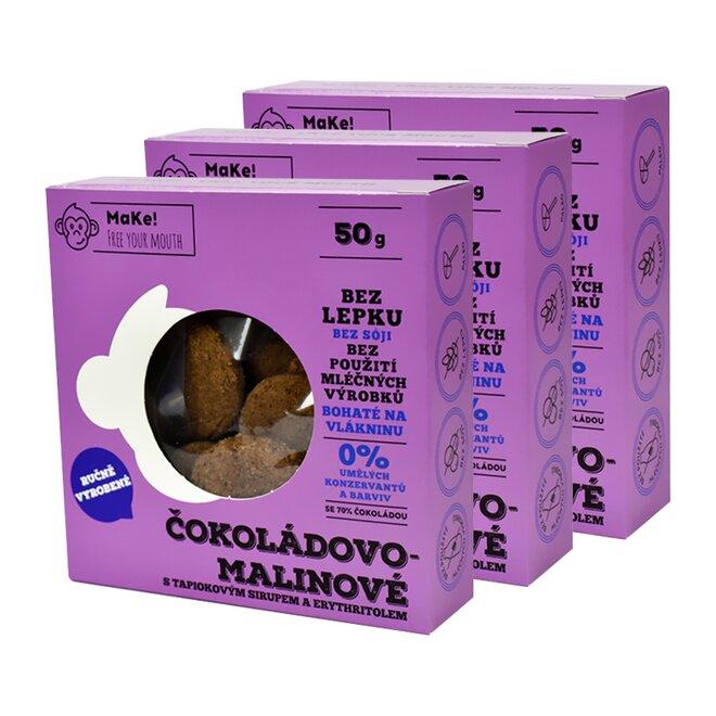 3x Čokoláda-malina, à 50 g