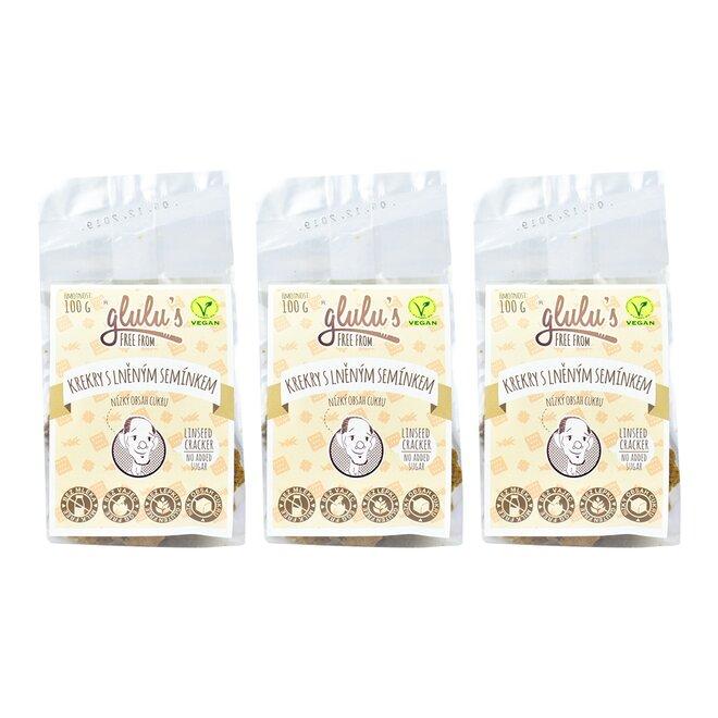 3× Krekry s lněným semínkem (á 100 g)