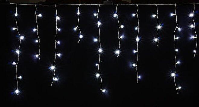 Luma LED vánoční světelný déšť 648 LED - studená bílá