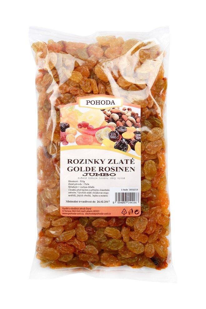 Rozinky zlaté Jumbo, 500 g