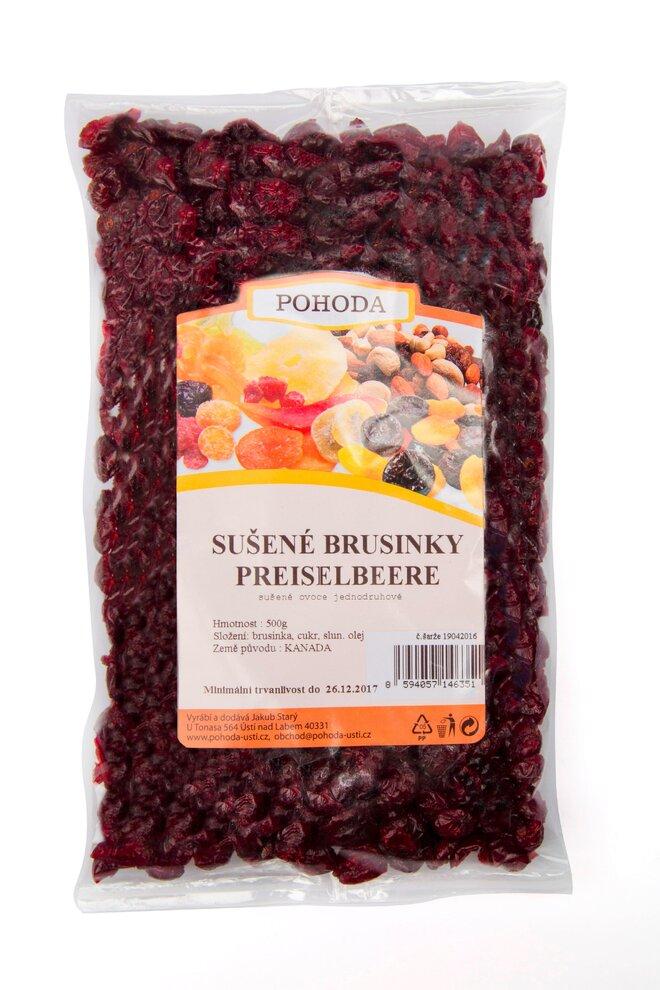 Brusinky (klikva velkoplodá), 500 g