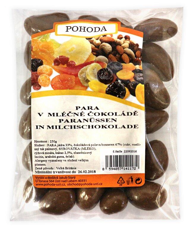 Para ořechy v mléčné čokoládě, 250 g