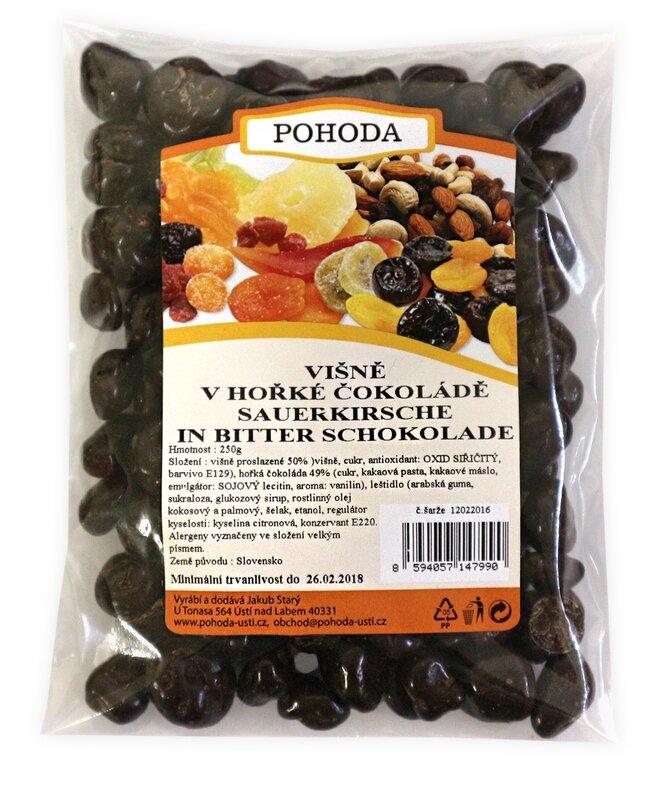 Višně v hořké čokoládě, 250 g