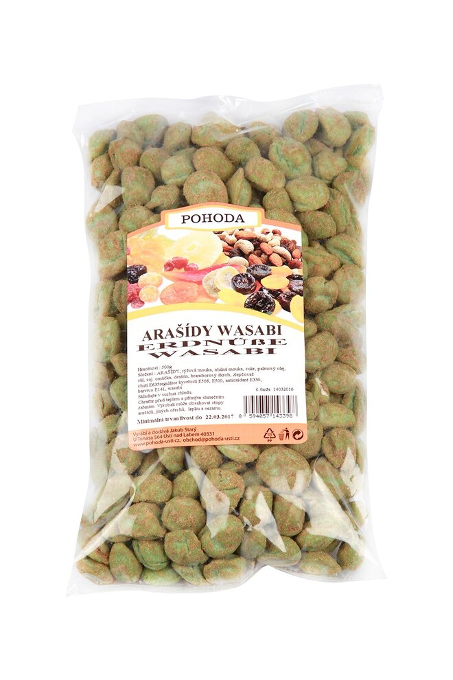 Arašídy wasabi, 500 g