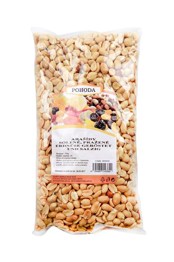 Arašídy solené, 500 g