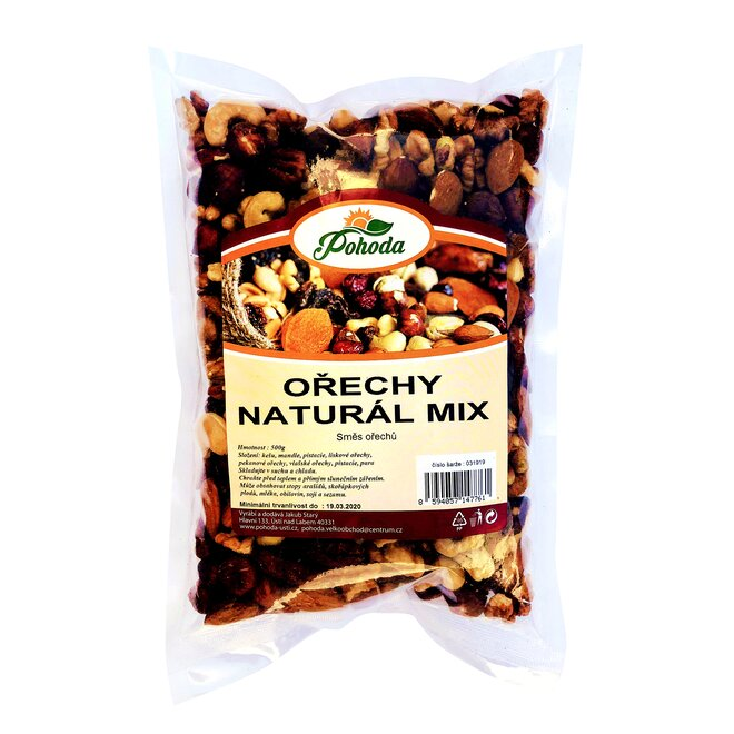 Ořechy natural mix, 500 g