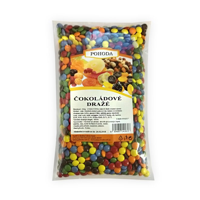 Čokoládové dražé, 500 g