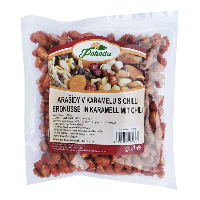 Arašídy v karamelu s chilli, 300 g
