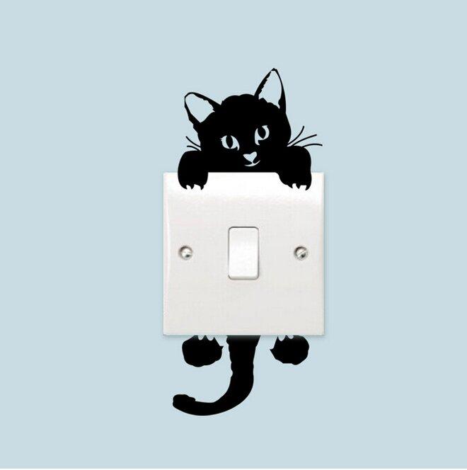 Kočka k vypínači