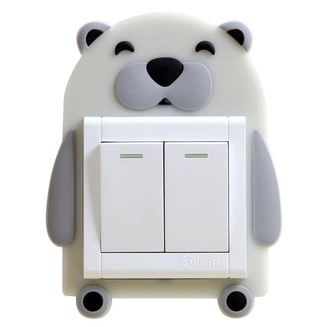 Ozdoba na vypínač – lední medvěd