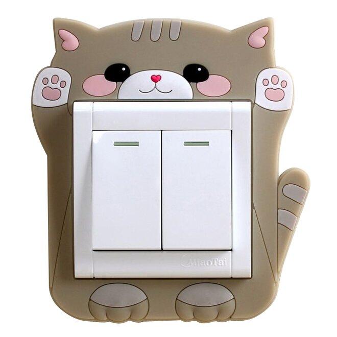 Ozdoba na vypínač – kotě