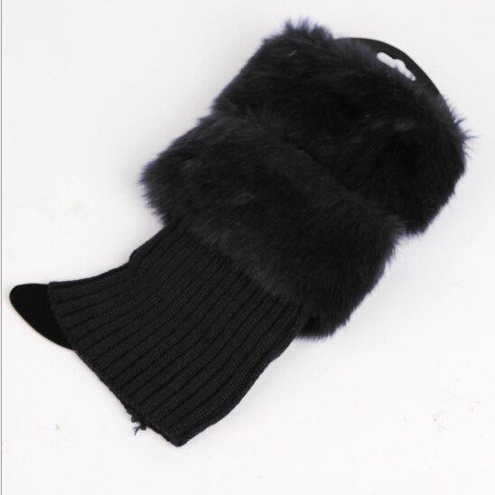 Kožešinkové návleky - černé