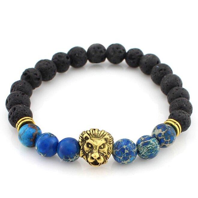 Lev - modré kameny