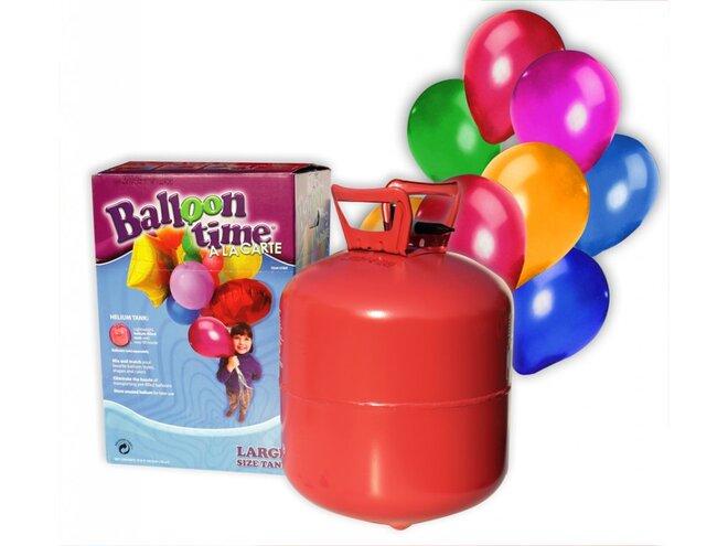 Helium na 75 balonků + 75 balonků a stuha