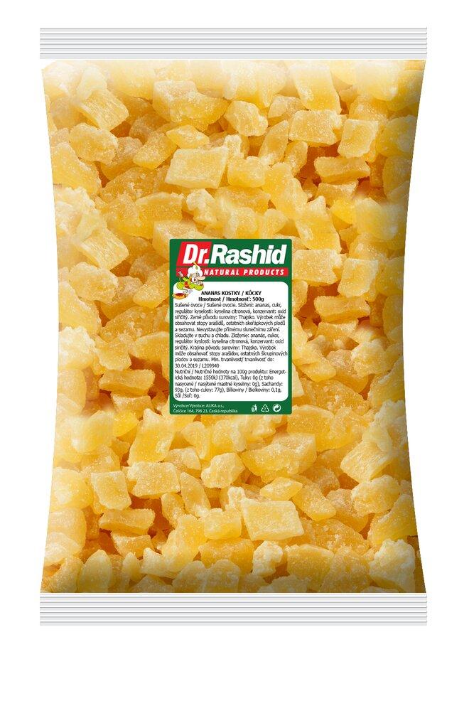 Ananas – kostky, 500 g