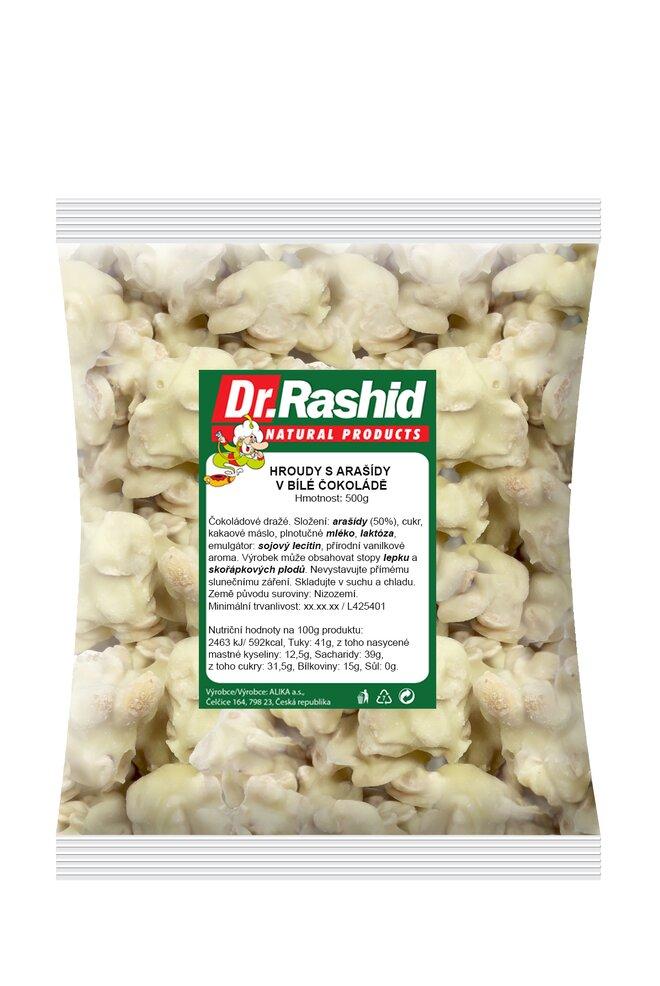 Arašídové hroudy v bílé polevě, 500 g