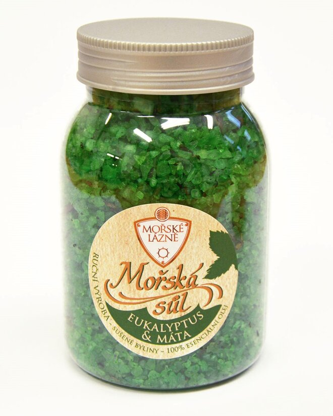 """Mořská koupelová sůl, 500 g """"Eukalyptus & Máta"""""""