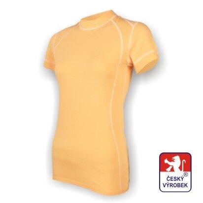 Dámské funkční tričko krátký rukáv – béžová