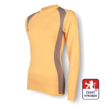 Dámské funkční tričko dlouhý rukáv – béžovo-šedá