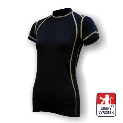 Dámské funkční tričko krátký rukáv – černá