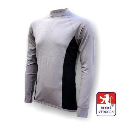 Pánské funkční tričko dlouhý rukáv – šedo-černá