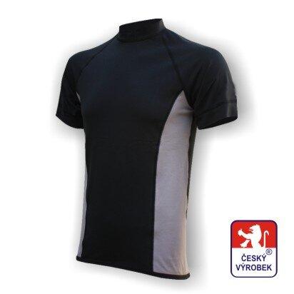 Pánské funkční tričko krátký rukáv – černo-šedá