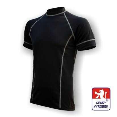 Pánské funkční tričko krátký rukáv – černá