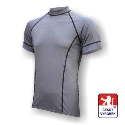 Pánské funkční tričko krátký rukáv – šedá