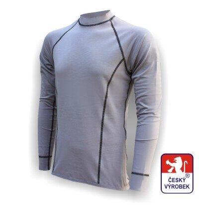 Pánské funkční tričko dlouhý rukáv – šedá